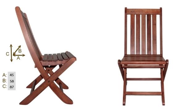 126 katlanır Acropol sandalye