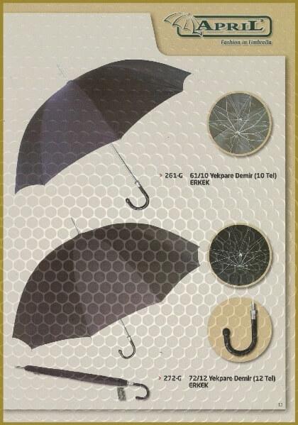 Markalı yağmur şemsiyeleri 12-L