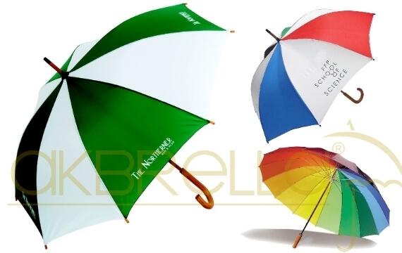 Gök kuşağı Promosyon yağmur şemsiyeleri 12